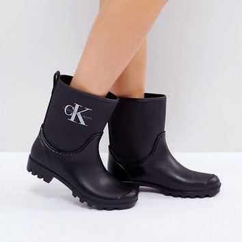 Calvin Klein Jeans Philippa Ankle Wellington Boots at asos.com