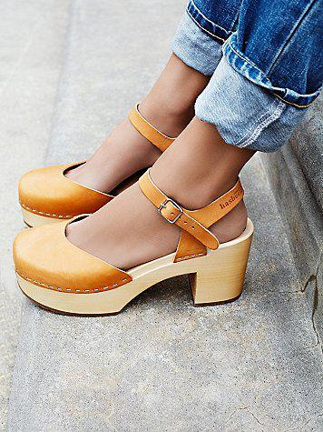 733f48dad625 Swedish Hasbeens Womens Krillan Clog from Free People