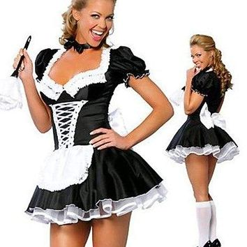 MOONIGHT Female Apparel Maid Lingerie Costume Role Play French Maid Costume Cosplay Dress Macchar Cosplay Catalogue