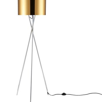 "Euro Style Collection Lisboa 63"" Tripod Floor Lamp-Gold"