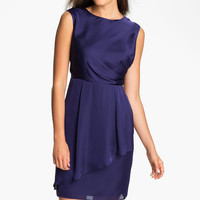 Vince Camuto Ruffle Peplum Charmeuse Dress | Nordstrom