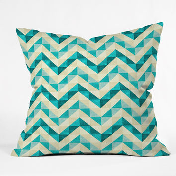 Jacqueline Maldonado Chevron Facet 4 Outdoor Throw Pillow