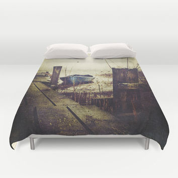 Rugged fisherman Duvet Cover by HappyMelvin