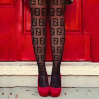 LOUIS VUITTON GUCCI FENDI Balenciaga Tide brand women's thin section sexy black stockings