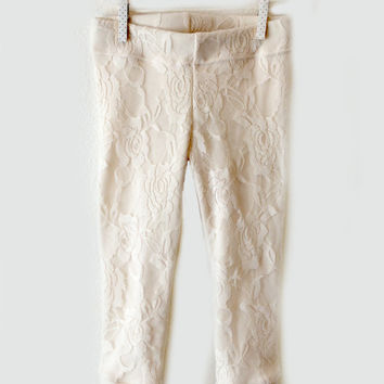 9a3e7bb72547a Cream Lace Leggings for Babies and Toddlers - Custom