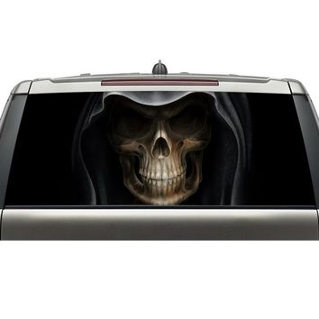 Custom car rear windshield decals skull head graphic vinyl stickers