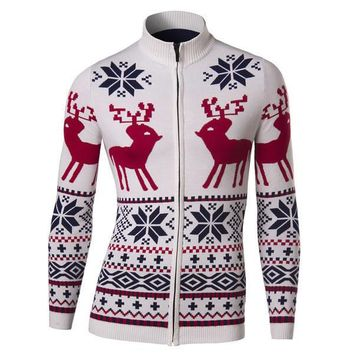 Mens Trendy Christmas Turtleneck Sweater