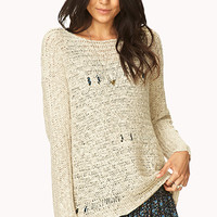 Chic Distressed Open-Knit Sweater