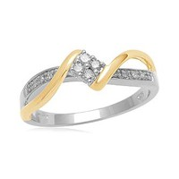 Eternal Treasures Two-Tone Diamond Promise Ring: Commitment with Kmart