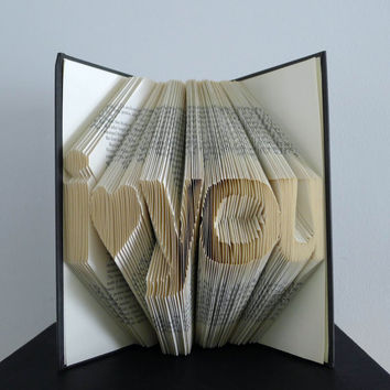 Folded Book Art - I Love You - Anniversary Gift - Boyfriend / Girlfriend Gift - Best Selling - Handmade Sculpture - Husband / Wife