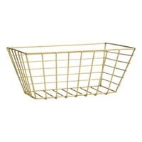 Large metal wire basket - Gold - Home All | H&M CA