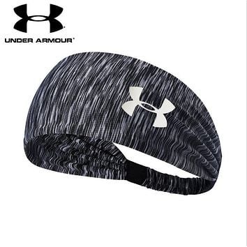 Under Armour Trending Women Men Leisure Gym Casual Headband Yoga Running Headwrap Head Hair Band Black Grey