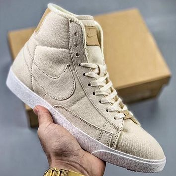 Trendsetter Nike Blazer Mid Prm Vntg Women Men Fashion Casual High-Top Shoes
