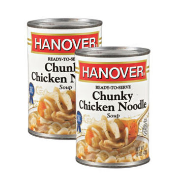 Hanover Chunky Chicken Noodle Soup, 15-oz. Cans