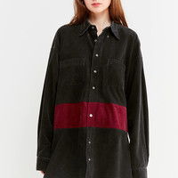 Urban Renewal Recycled Oversized Corduroy Shirt Dress | Urban Outfitters
