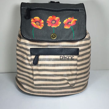 Dakine Sophia Backpack with Hand Painted Poppies