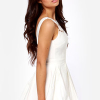 The Derby Cutout Ivory Dress