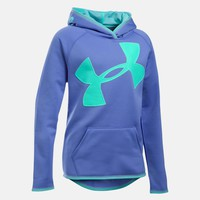 Girls' UA Armour® Fleece Jumbo Logo Hoodie | Under Armour US