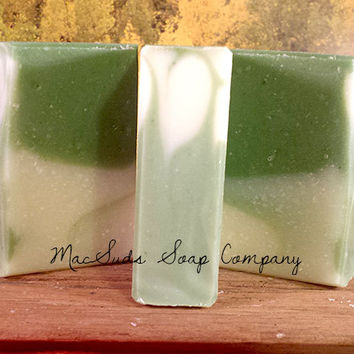 LEMONGRASS and SAGE Homemade Moisturizing Organic Natural Soap - Floral Soap - Gift for Her