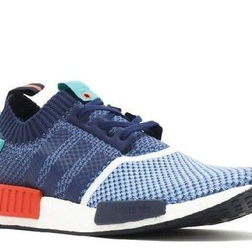 DCCKUN7 Ready Stock Adidas Nmd R1 Pk Pakers Blue Turquoise Red Sport Running Shoes