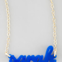 Personalized Acrylic Name Pendant Necklace