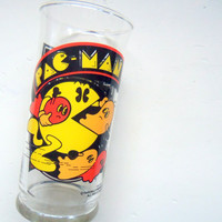 Vintage Pac Man Drinking Glass 1982