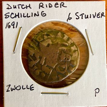 1691 Neatherlands 6 Stuiver Zwolle Coin