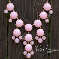 J Crew Bubble Necklace Inspired  Pink Bubble by PureStunning