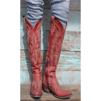 Old Gringo Moreen Tall Boot~ Red/Straw