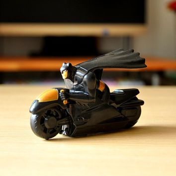 6cm The Avengers Mini Batman Motorcycle Pull Back Model Toy Batman Action Figures Toys Kids Toy for Fun