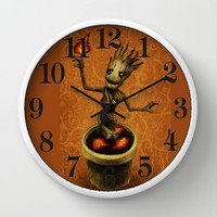 Groot Wall Clock by Anna Shell