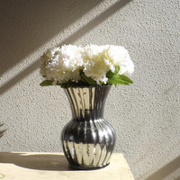 Mercury Glass Vase - Silver Mercury Glass