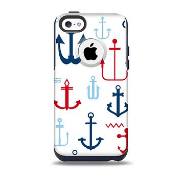 The Various Anchor Colored Icons Skin for the iPhone 5c OtterBox Commuter Case