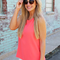 River Valley Tank {Bright Coral}