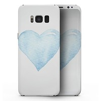 Blue Watercolor Heart - Samsung Galaxy S8 Full-Body Skin Kit