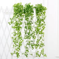 7.6ft Artificial Ivy Leaf Garland Plants Vine Fake Foliage Flowers Home Decor