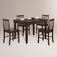 Espresso Preston 5-pc Dining Set | World Market
