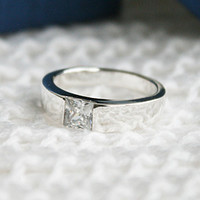 Personalized Ring Engraved Ring Crystal Ring width 4-5 mm