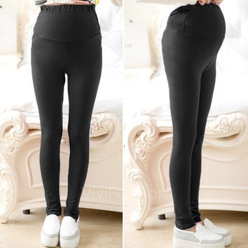 Maternity Leggings Very Comfortable Full Ankle Length Leggings One Size VVF = 1946593924