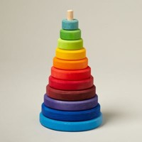 Baby Toys: Baby Colorful Rainbow Wooden Stacker