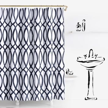kate spade new york painted trellis shower curtain | Nordstrom