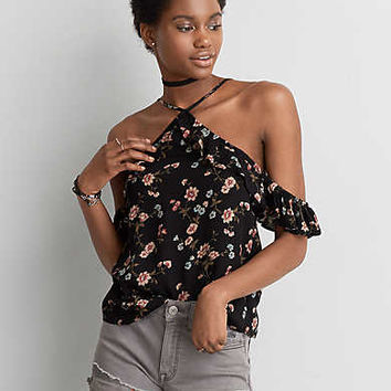 AEO Cold Shoulder Top, Black