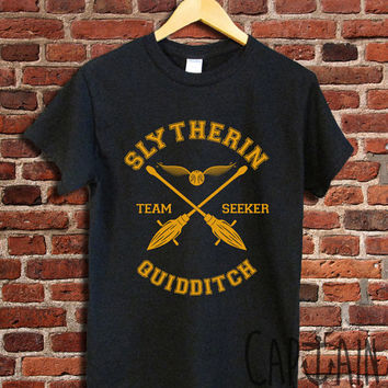 Slytherin quidditch shirt harry potter unisex tshirt