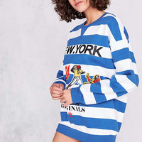 adidas Originals + UO New York Striped Pullover Sweatshirt - Urban Outfitters