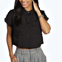 Alissa Pocket Super Crop Shirt
