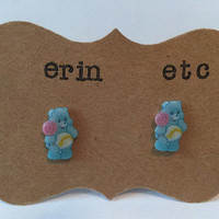 Handmade Plastic Fandom Earrings - Carebears - Wish Bear