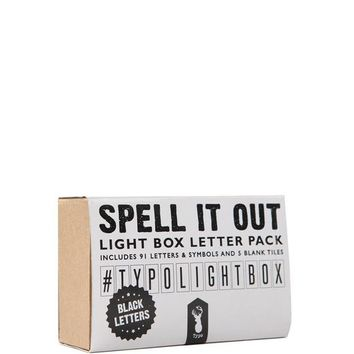 light box letter pack