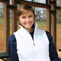 Monogram Puffy Vest Preppy Womens Puffer Vest
