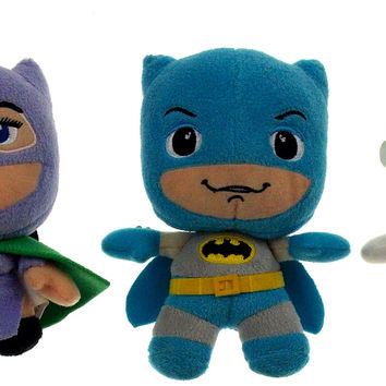 Lot 3 Batman Joker Catwoman DC Comics Originals Little Mates Stuffed Plush Toy