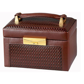RaGar Company PW503 Brown Paris Weave Jewelry Box